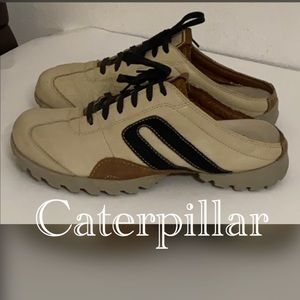 Authentic Caterpillar leather mules sneakers sz 9